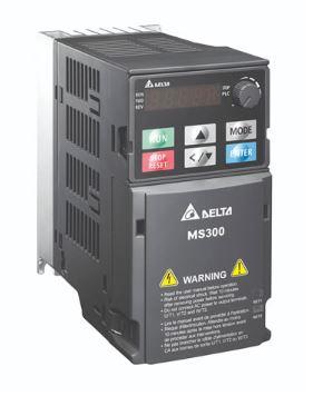 Inversor de Frequência 5CV (3,7KW) - Modelo MS - 380/480 Volts - Trifásico - Standard - Sem filtro EMI - Com STO - Frequência Normal de Saída DELTA VFD9A0MS43ANSAA