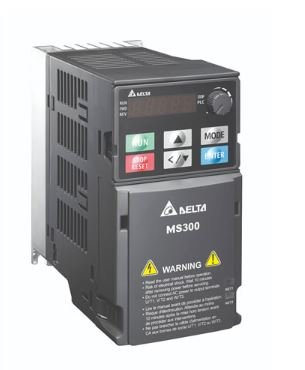 Inversor de Frequência 5CV (3.7KW) - Modelo MS - 220 Volts - Trifásico - Standard - Sem filtro EMI - Com STO - Frequência Normal de Saída DELTA VFD17AMS23ANSAA