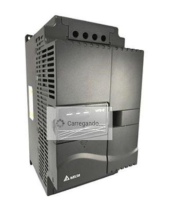 Inversor de Frequência 7,5CV (5,5KW) - Modelo E - 380/480 Volts - Trifásico - Driver Padrão - Transistor de Frenagem Incorporado - utilizado para variação de velocidade de motores elétricos. DELTA VFD055E43A
