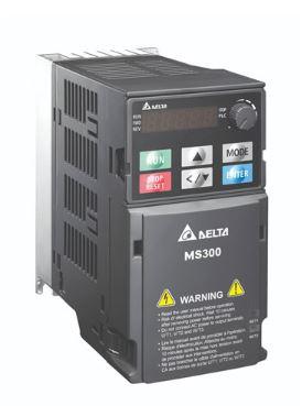 Inversor de Frequência 7,5CV (5,5KW) - Modelo MS - 380/480 Volts - Trifásico - Standard - Sem filtro EMI - Com STO - Frequência Normal de Saída DELTA VFD13AMS43ANSAA