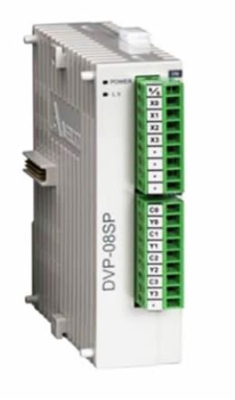 Módulo de expansão para CLP Modelo SS, AS, SX, SC ou SV com 4 Entradas e 4 Saídas Digitais a Relé e Alimentação 24Vdc DELTA DVP08SP11R