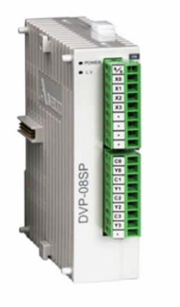 Módulo de expansão para CLP Modelo SS, AS, SX, SC ou SV com 4 Entradas e 4 Saídas Digitais a Transistor NPN e Alimentação 24Vdc DELTA DVP08SP11T