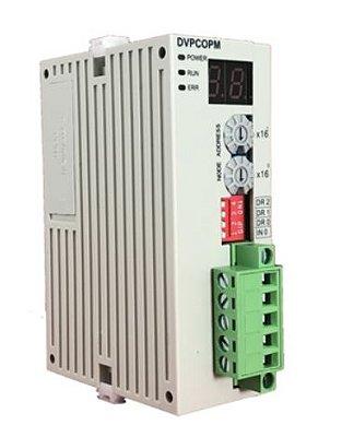 Módulo de extensão de rede  para CLP Modulo SV (alta velocidade) com comunicação CANopen Escravo. Alimentação interna 5Vcc DELTA DVPCOPM-SL