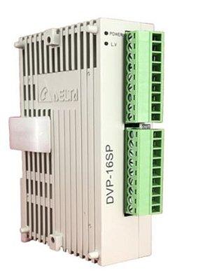 Módulo de extensão digital (DI/DO) para CLP Modelo SS, AS, SX, SC ou SV com 8 Entradas e 8 Saídas Digitais a Transistor PNP e Alimentação 24Vdc DELTA DVP16SP11TS