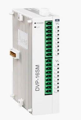 Módulos de extensão digital  (DI/DO) para CLP Modelo SS, AS, SX, SC ou SV com 16 Entradas Digitais e Alimentação 24Vdc DELTA DVP16SM11N