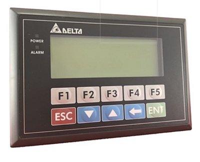 Painel do terminal 4 linhas - Modelo 04 (4 linhas) - Modo Gráfico com porta COM1 sendo RS-232 - RS-422. Com teclado Alfanumérico e vídeo monocromático. DELTA TP04G-AL2
