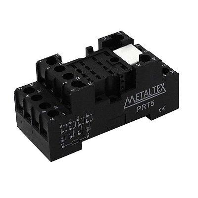 soquete base para rele 14 Pinos - montagem trilho DIN METALTEX PRT5