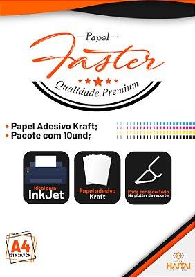 Papel Vinil Adesivo Ink Jet Kraft - Pacote com 10 unid.