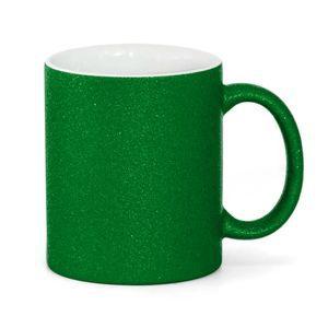 Caneca para Sublimação de Cerâmica Glitter Verde