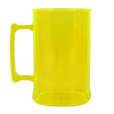 Caneca para Chopp 450ml - Amarela Neon