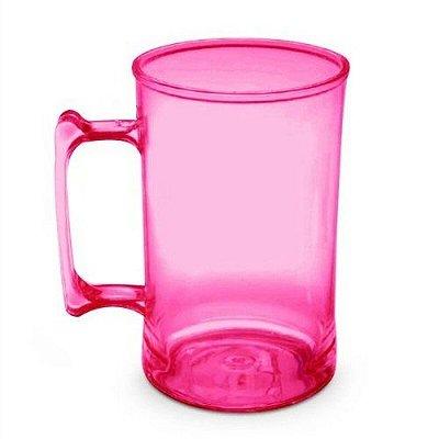 Caneca para Chopp 450ml - Rosa Neon