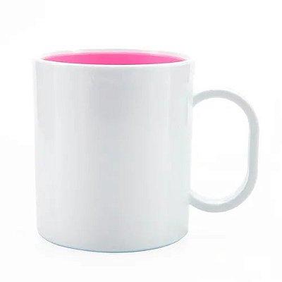 Caneca de Polímero com Interior Rosa
