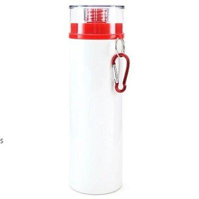 Squeezer Branco Com Tampa Vermelha - 750ML