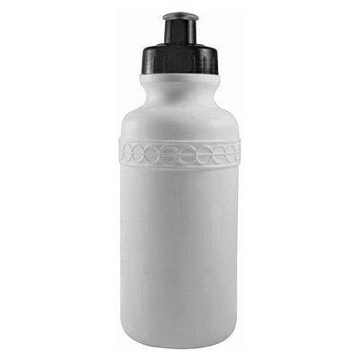 Squeezer Plástico Branco com Tampa Colorida - 500ml