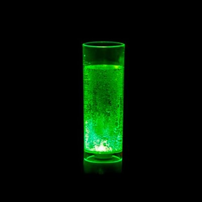 Copo Long Drink com LED - Verde Neon