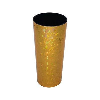Copo Long Drink Metalizado 3D - Dourado