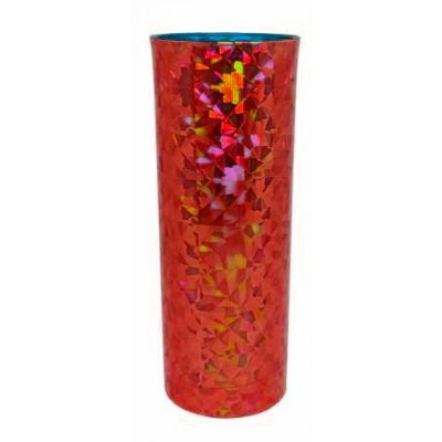 Copo Long Drink Metalizado 3D - Vermelho
