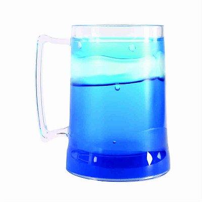 Caneca de Chopp com Gel 300ml - Azul