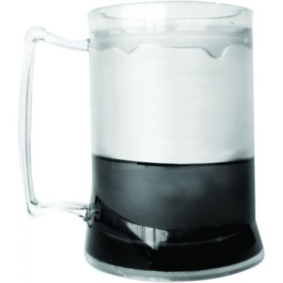 Caneca de Chopp com Gel 300ml - Preto