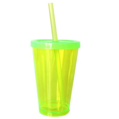 Copo Happy 350ml - Verde Neon