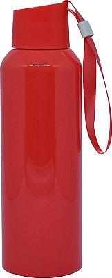Squeezer Plástico 500ml com Cordão - Vermelho