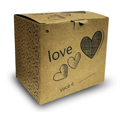 06- CAIXINHA PARA CANECA - LOVE KRAFT - 1 UNIDADE