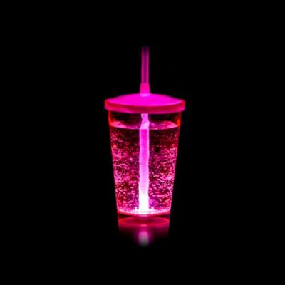 Copo Euphoria Twister 700ml c/ LED - Rosa Neon