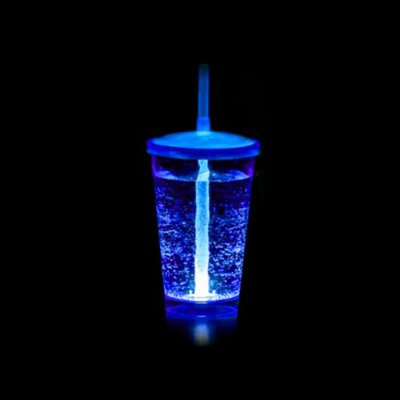 Copo Euphoria Twister 700ml c/ LED - Azul Neon