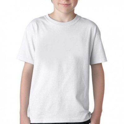 Camisa 100% Poliéster Infantil - Branca