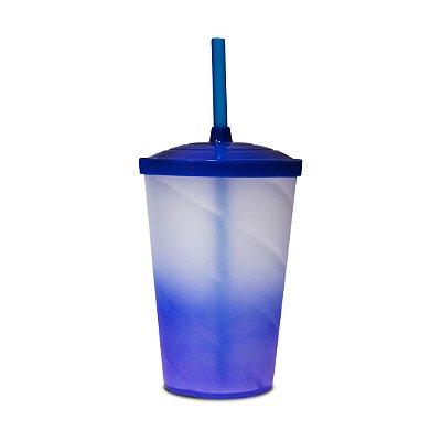 Copo Euphoria Twister Jateado 700ml - Azul