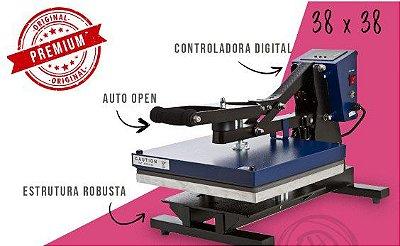 Prensa Térmica Plana 38x38 c/ Abertura Automatica e base retratil - MUNDI