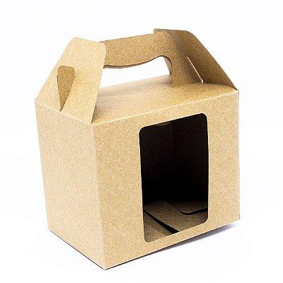 Caixa p/ caneca c/ abertura - Kraft