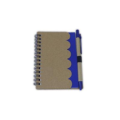 Bloco de anotação pequeno c/ caneta azul - (NUVEM)