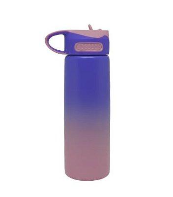 Squeeze Bico Retratil 600ML bicolor (ROSA/LILAS)