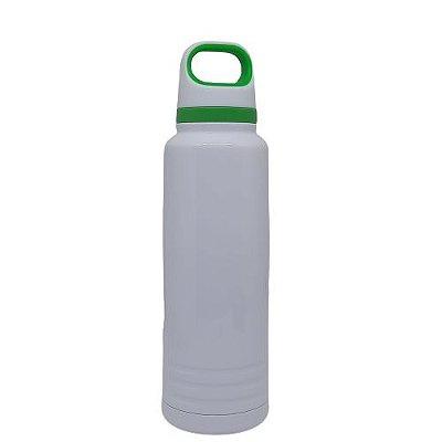 Garrafa Térmica c/ alça verde -  600ML