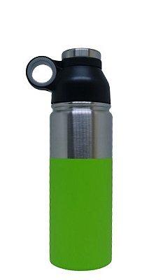 Garrafa Aluminio c/ base Verde - 600ml