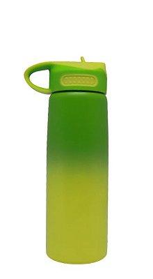 Squeeze Bico Retrátil 600ml bicolor (VERDE/AMARELO)