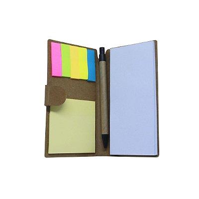 Bloco de Anotação Pequeno - Carteira c/ caneta color