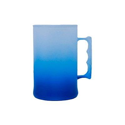 Caneca para Chopp Jateada 500ml - Azul
