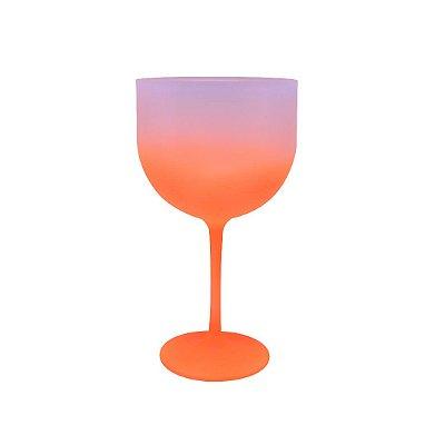 Taça de Gin 500ml - Jateada Laranja
