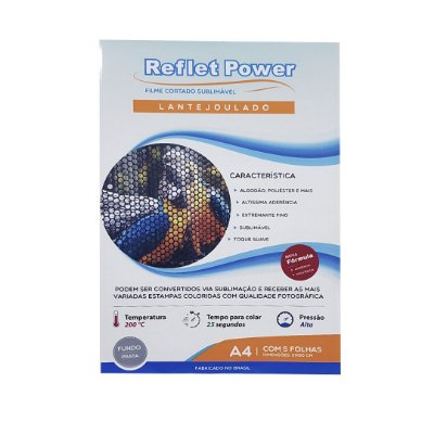 OBM Reflet Power Lantejoulado - Prata (5 folhas)