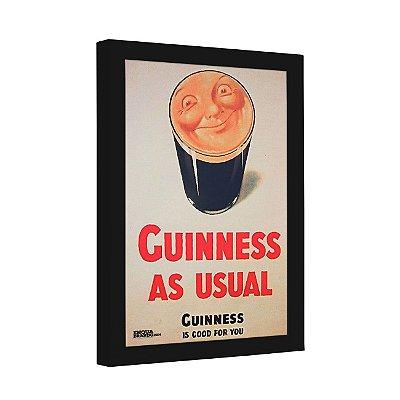 Quadro Decorativo Cerveja Guinness as Usual