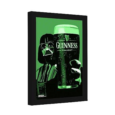 Quadro Decorativo Cerveja Guinness Darth Vader