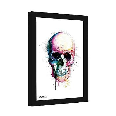 Quadro Decorativo Watercolor Skull