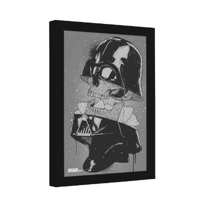 Quadro Decorativo Caveira Darth Vader
