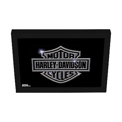 Quadro Decorativo Harley Davidson Cromado