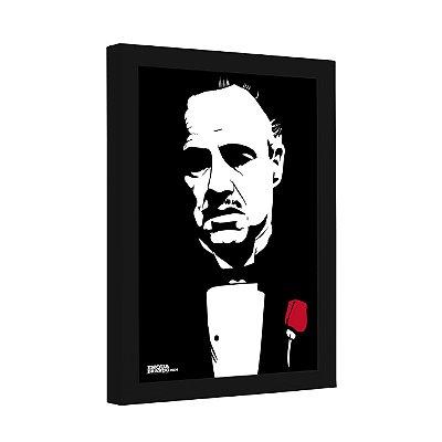 Quadro Decorativo Don Vito Corleone Estilizado de O Poderoso Chefão