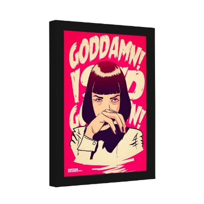 Quadro Decorativo Mia Wallace Goddamn Pulp Fiction