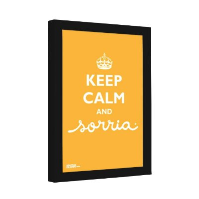 Quadro Decorativo Keep Calm and Sorria