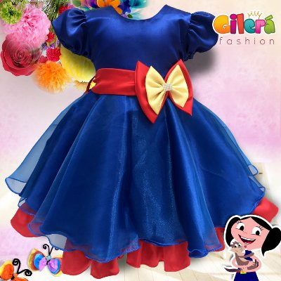 Vestido Infantil de Festa Tema Show da Luna